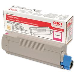 OKI Magenta Laser Toner Cartridge for C5550 MFP/C5800/C5900 Ref 43324422