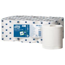 Tork Centrefeed Hand Towel Rolls Single Ply 194mmx300m Ref J96122 White [Pack 6]