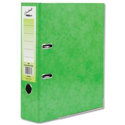 Concord Contrast Lever Arch File Laminated Capacity 65mm A4 Lime Ref 214702 - Pack 10