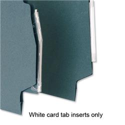 5 Star Office Inserts Card for Lateral File Tabs White [Pack 52]