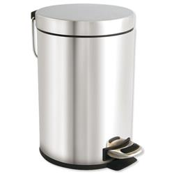 Pedal Bin with Removable Inner Bucket 3 Litres Stainless Steel
