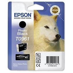 Epson T0961 Inkjet Cartridge UltraChrome K3 Husky Photo Black Ref C13T09614010