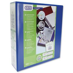 Elba Panorama Presentation Lever Arch File 2-Ring A4 Blue Ref 400008438 [Pack 5]