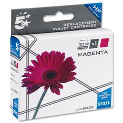 5 Star Office Remanufactured Inkjet Cartridge Page Life 825pp Magenta [HP No. 933XL CN055AE Alternative]