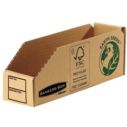 Bankers Box by Fellowes Parts Bin Corrugated Fibreboard Packed Flat 76x280x102mm Ref 07352 [Pack 50]