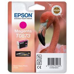 Epson T0873 Inkjet Cartridge UltraChrome Hi-Gloss2 Flamingo Page Life 890pp Magenta Ref C13T08734010