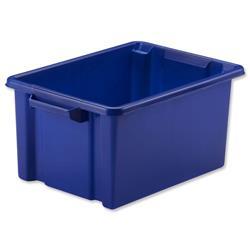 Strata Midi Storemaster Crate 360x270x190mm Blue Ref HW044