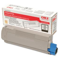 OKI Black Laser Toner Cartridge for C5550 MFP/C5800/C5900 Ref 43324424