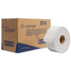 Hostess Mini Jumbo Toilet Tissue Rolls 2-Ply 94mmx200m White Ref 8614 - Box 12