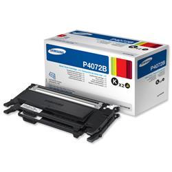 Samsung Laser Toner Cartridge Page Life 2x1500pp Black Ref CLT-P4072B/ELS - Pack 2 - £20 Cashback