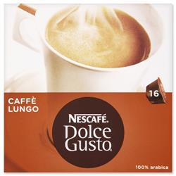 Nescafe Caffe Lungo for Nescafe Dolce Gusto Machine Ref 12019900 - Packed 48