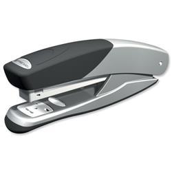 Rexel Stapler Torador Full Strip Metal Stapler Silver-Black Ref 2101202