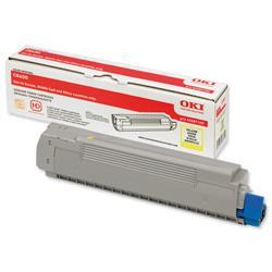 OKI Yellow Laser Toner Cartridge for C8600/C8800 Printers Ref 43487709