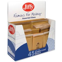 Jiffy Mailmiser Gold Bag Selection Box 10xNo000 10xNo00 10xNo0 5xNo1 5xNo2 5xNo4 Ref 45-6 - Pack 45