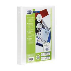 Elba Panorama Presentation Ring Binder PVC 4 O-Ring 16mm Capacity A4 White Ref 400020311 [Pack 5]
