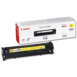 Canon 716Y Yellow Laser Toner Cartridge for LBP5050/LBP5050n Ref 1977B002AA