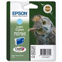 Epson T0795 Inkjet Cartridge Claria Owl 51g Page Life 540-660pp Light Cyan Ref C13T079540A0