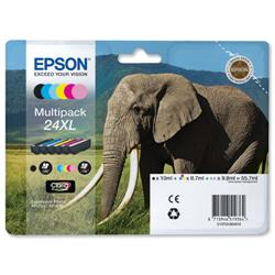 Epson 24XL Inkjet Cartridge Multipack Capacity 29.1ml B/C/M/Y/LC/LM Ref T24384010 [Pack 6]