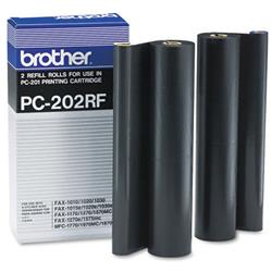Brother PC202RF Black Thermal Fax Ribbon for 1020-1030 series Ref PC-202RF - Pack 2