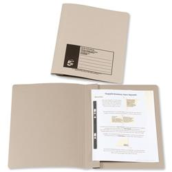 5 Star Office Flat Bar File Recycled Manilla 285gsm Capacity 38mm Foolscap Buff [Pack 50]