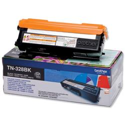 Brother TN-328BK Black Laser Toner Cartridge Ref TN328BK