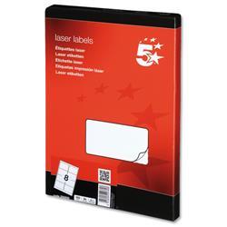 5 Star Office Multipurpose Labels Laser 8 per Sheet 99.1x67.7mm White [800 Labels]