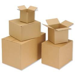 Packing Carton Single Wall Strong Flat Packed 127x127x127mm [Pack 25]