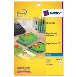 Avery J8435 Inkjet CD Cover and Tray in One Ref J8435-25 - Pack 25