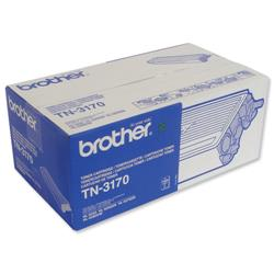 Brother TN3170 Black Laser Toner Cartridge Ref TN-3170
