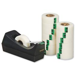 Scotch Magic Tape 900 Roll Natural Fibre Film 19mmx33m Matt Ref 9-1933R14C38 - Pack 14 and C38 Dispenser