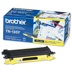 Brother TN135Y Yellow Laser Toner Cartridge Ref TN-135Y