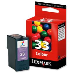 Lexmark No. 33 Colour Inkjet Cartridge for Z815 and X5250 Ref 18C0033E
