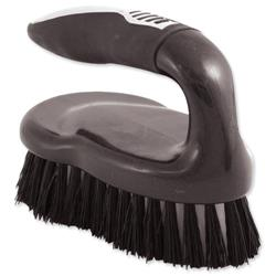 Iron Scrubbing Brush Ergonomic Black/Chrome