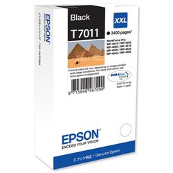 Epson T7011 Black Extra High Capacity Ink Cartridge Ref C13T70114010