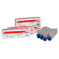 OKI Laser Toner Cartridges Page Life 6000pp Black/Cyan/Magenta/Yellow Ref 43698501 - Pack 4