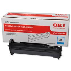 OKI Cyan Laser Image Drum Unit for C3300/C3400 Colour Printers Ref 43460207