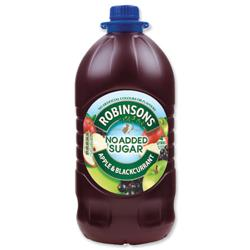 Robinsons Squash Double Concentrate No Added Sugar 1.75 Litres Apple and Blackcurrant Ref 200660 [Pack 2]