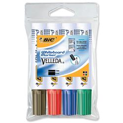 Bic 1781 Whiteboard Marker Chisel Tip Line Width 3.5-5.5mm Assorted Ref 119900178 - Pack 4