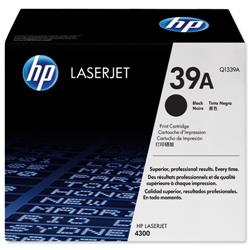 Hewlett Packard HP 39a Black Print Cartridge with Smart Printing Technology for LaserJet 4300 Ref Q1339A