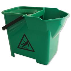 Bentley Colour Coded  Mop Bucket Heavy Duty 16 Litre Capacity Green Ref SPCMB16G