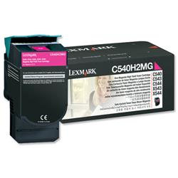 Lexmark Laser Toner Cartridge High Yield Page Life 4000pp Magenta Ref C544X1MG