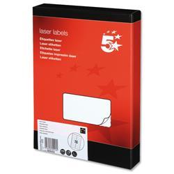 5 Star Office Multipurpose Labels Laser 16 per Sheet 99.1x34mm White [4000 Labels]