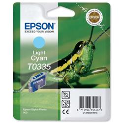 Epson T0335 Inkjet Cartridge Intellidge Grasshopper Page Life 440pp Light Cyan Ref C13T03354010