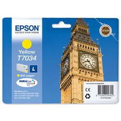 Epson T7034 Inkjet Cartridge Big Ben Page Life 800pp Yellow Ref C13T70344010