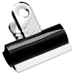 5 Star Office Grip Clips Metal Width 40mm Black [Pack 10]