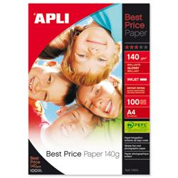 Apli Best Price A4 Glossy Photo Paper 140gsm Ref 11804 - Pack 100