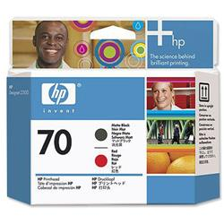 Hewlett Packard HP No. 70 Printhead Red Matte Black Ref C9409A