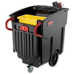 Rubbermaid Mega Brute Waste Collection Cart Turns on Own Axis 450 Litres W1330xD700xH1080mm Ref 9W71