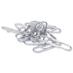 5 Star Office Paperclips Metal Large Lipped 33mm Lipped [Pack 1000]