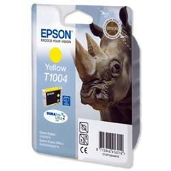 Epson T1004 Inkjet Cartridge DURABrite Ultra Rhino Yellow Ref C13T10044010